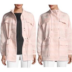 (ST. JOHN) Textured Jacquard Drawstring Jacket